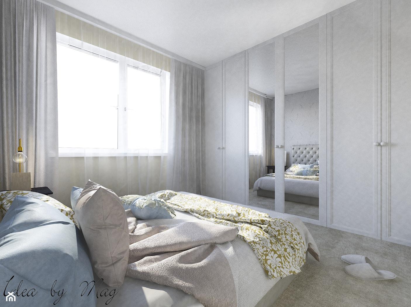 Kobiece wnętrze. - Średnia beżowa sypialnia małżeńska, styl klasyczny - zdjęcie od Idea by Mag. - Homebook