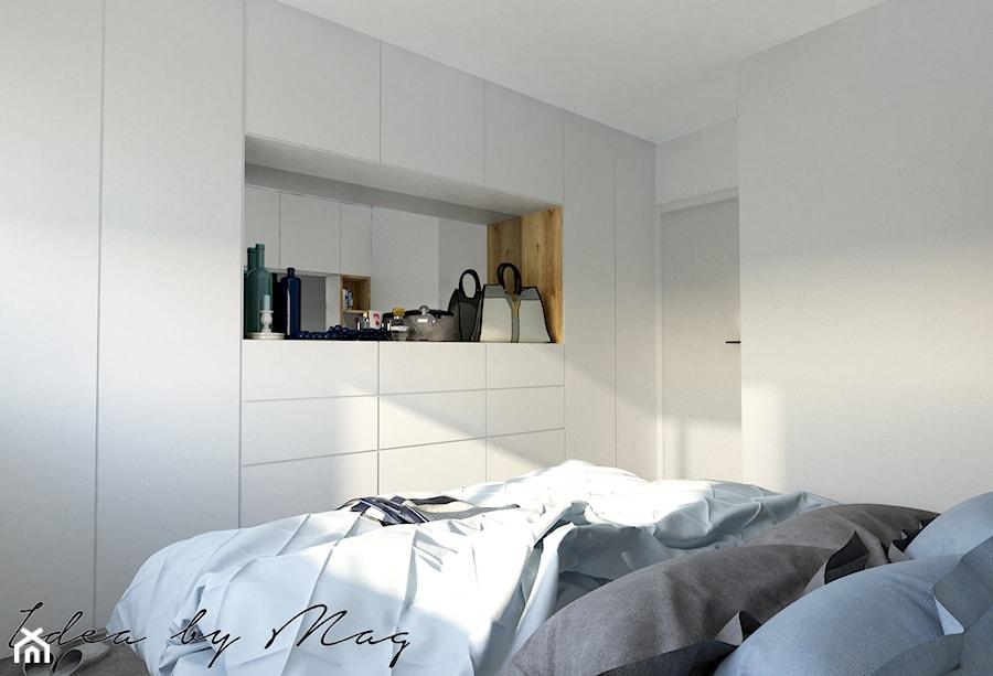 Apartament Dla Dwojga średnia Biała Sypialnia Małżeńska