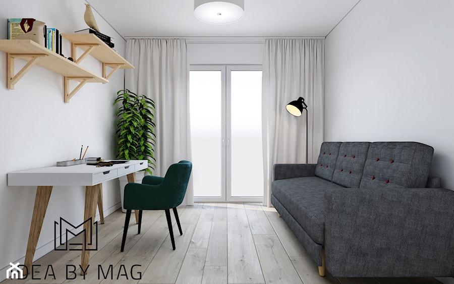 Prowansalskie marzenie - Średnie białe biuro kącik do pracy w pokoju, styl prowansalski - zdjęcie od Idea by Mag.