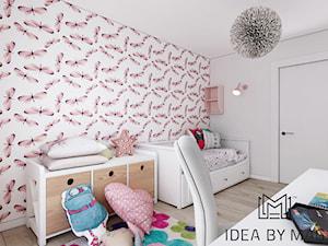 Prowansalskie marzenie - Średni biały szary różowy pokój dziecka dla dziewczynki dla ucznia dla malucha dla nastolatka, styl prowansalski - zdjęcie od Idea by Mag.