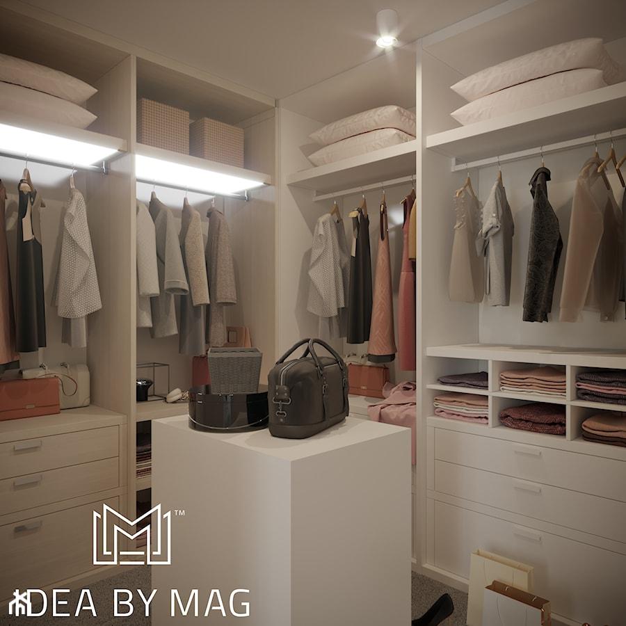 Pastelowa elegancja - Garderoba, styl nowojorski - zdjęcie od Idea by Mag.