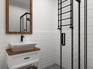 Sielski klimat - Średnia biała łazienka w bloku w domu jednorodzinnym bez okna, styl rustykalny - zdjęcie od Idea by Mag.