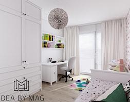 Klatka. - Średni szary pokój dziecka dla dziewczynki dla ucznia dla nastolatka, styl prowansalski - zdjęcie od Idea by Mag.