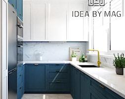 Verbel Soho Factory - Średnia otwarta biała kuchnia w kształcie litery u z oknem, styl nowoczesny - zdjęcie od Idea by Mag. - Homebook