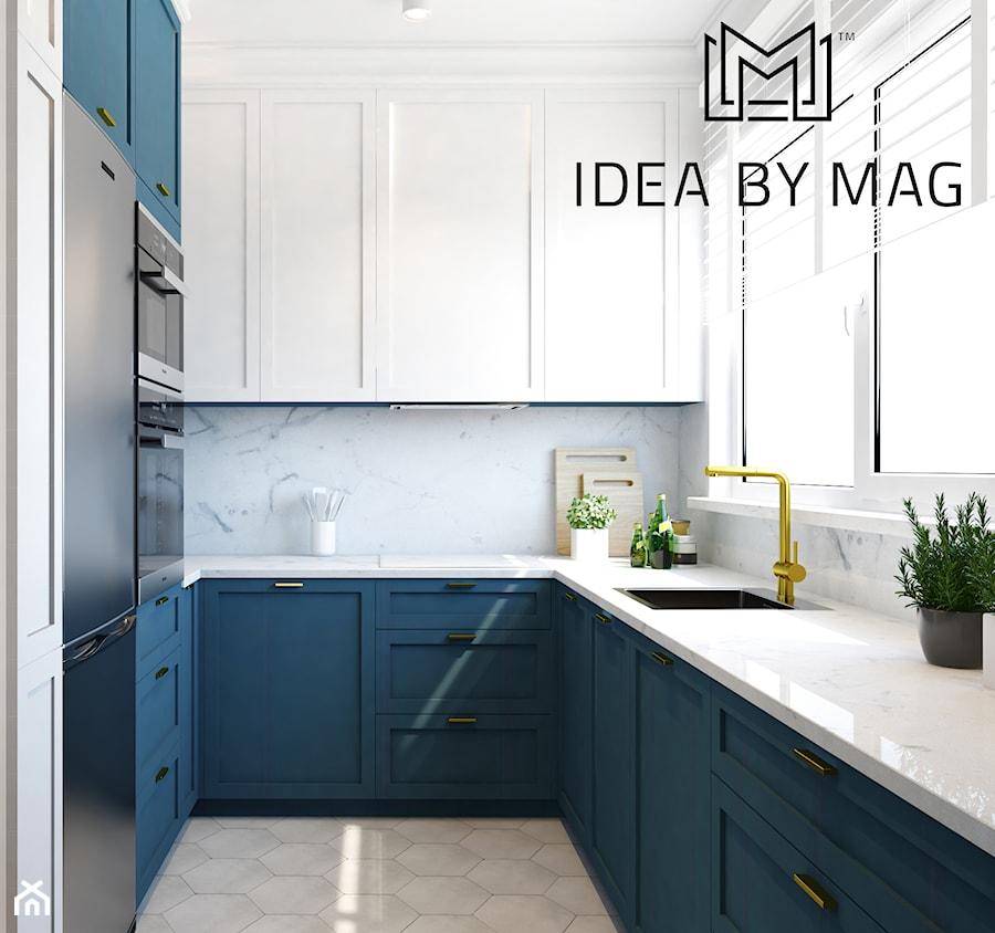 Verbel Soho Factory - Średnia otwarta biała kuchnia w kształcie litery u z oknem, styl nowoczesny - zdjęcie od Idea by Mag.