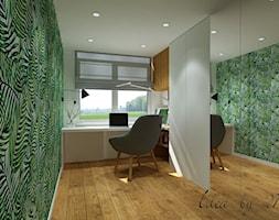 Metamorfoza Pruszków. - Małe zielone biuro domowe w pokoju, styl nowoczesny - zdjęcie od Idea by Mag.