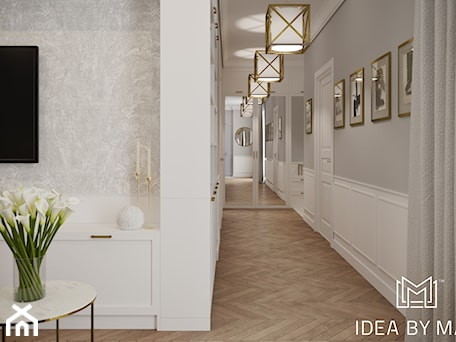Aranżacje wnętrz - Hol / Przedpokój: Pastelowa elegancja - Hol / przedpokój, styl nowojorski - Idea by Mag.. Przeglądaj, dodawaj i zapisuj najlepsze zdjęcia, pomysły i inspiracje designerskie. W bazie mamy już prawie milion fotografii!