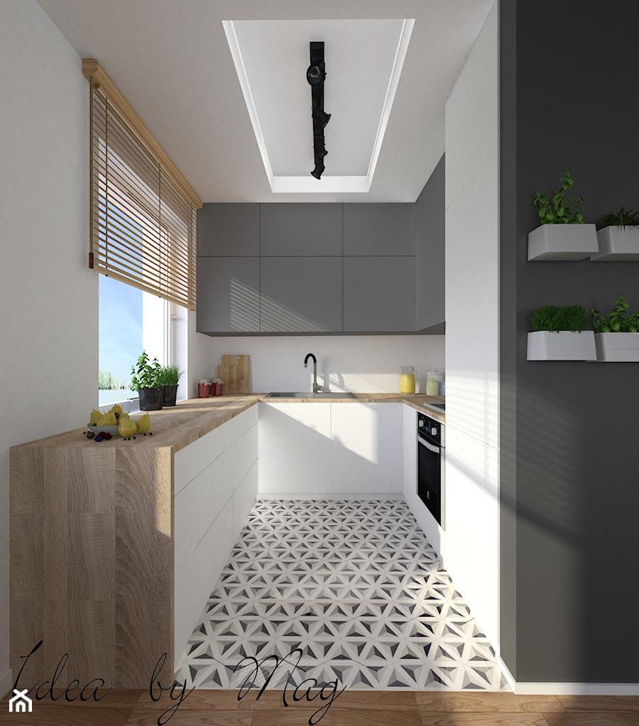 Odzwierciedlenie domowego klimatu. - Kuchnia, styl skandynawski - zdjęcie od Idea by Mag.