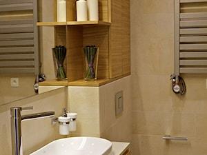 Mała beżowa łazienka, styl nowoczesny - zdjęcie od DEKA DESIGN
