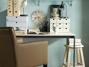 Średnie miętowe biuro kącik do pracy w pokoju, styl nowoczesny - zdjęcie od Angelika Kozanecka