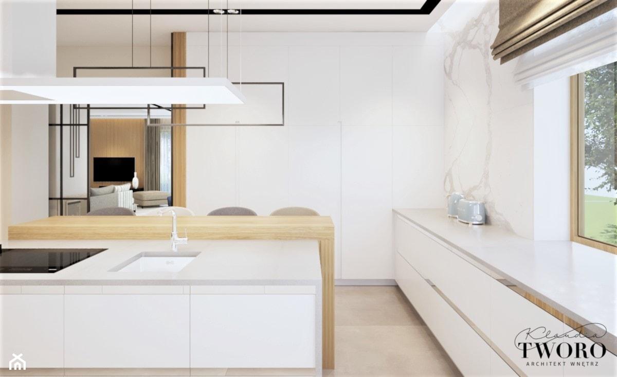 Dom w Rudzie Bugaj - Kuchnia, styl nowoczesny - zdjęcie od Klaudia Tworo Projektowanie Wnętrz - Homebook