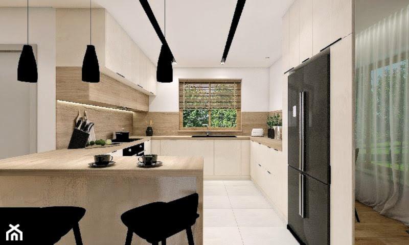Dom w Ksawerowie - Kuchnia, styl nowoczesny - zdjęcie od Klaudia Tworo Projektowanie Wnętrz
