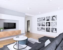Dom Dęby Wolskie - Salon, styl nowoczesny - zdjęcie od Klaudia Tworo Projektowanie Wnętrz - Homebook