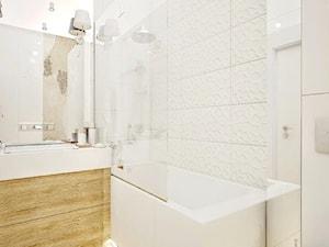 Żoliborz Artystyczny 88,5 - Średnia biała łazienka na poddaszu w bloku w domu jednorodzinnym bez okna, styl nowoczesny - zdjęcie od Klaudia Tworo Projektowanie Wnętrz