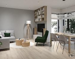 Salon z aneksem kuchennym - Salon, styl nowoczesny - zdjęcie od Klaudia Tworo Projektowanie Wnętrz - Homebook