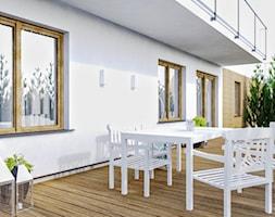 Mieszkanie_2 - Średni taras z tyłu domu - zdjęcie od Klaudia Tworo Projektowanie Wnętrz