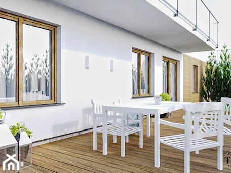 Aranżacje wnętrz - Taras: Mieszkanie_2 - Średni taras z tyłu domu - Klaudia Tworo Projektowanie Wnętrz. Przeglądaj, dodawaj i zapisuj najlepsze zdjęcia, pomysły i inspiracje designerskie. W bazie mamy już prawie milion fotografii!