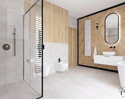 Dom Dęby Wolskie - Łazienka, styl nowoczesny - zdjęcie od Klaudia Tworo Projektowanie Wnętrz - Homebook