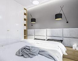 Elegancka+sypialnia+w+bielach+i+szaro%C5%9Bciach+-+zdj%C4%99cie+od+Klaudia+Tworo+Projektowanie+Wn%C4%99trz