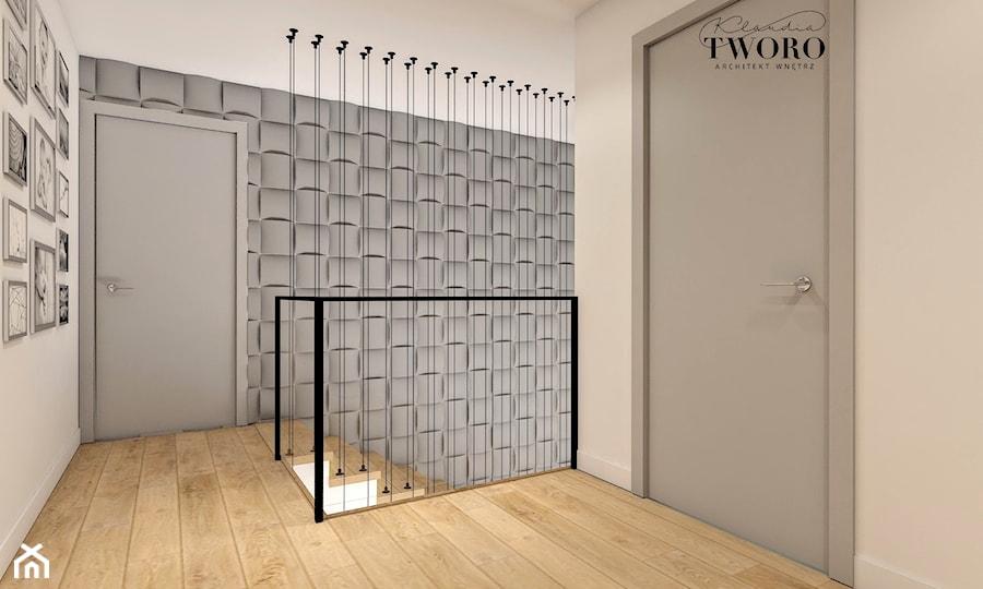 Dom w Ksawerowie - Hol / przedpokój, styl nowoczesny - zdjęcie od Klaudia Tworo Projektowanie Wnętrz