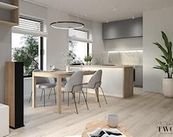 Salon z aneksem kuchennym - Jadalnia, styl nowoczesny - zdjęcie od Klaudia Tworo Projektowanie Wnętrz - Homebook