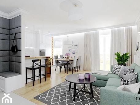 Aranżacje wnętrz - Salon: Mieszkanie_2 - Mały biały salon z kuchnią z jadalnią z tarasem / balkonem - Klaudia Tworo Projektowanie Wnętrz. Przeglądaj, dodawaj i zapisuj najlepsze zdjęcia, pomysły i inspiracje designerskie. W bazie mamy już prawie milion fotografii!