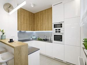 Kuchnia Biel i Drewno - zdjęcie od Klaudia Tworo Projektowanie Wnętrz
