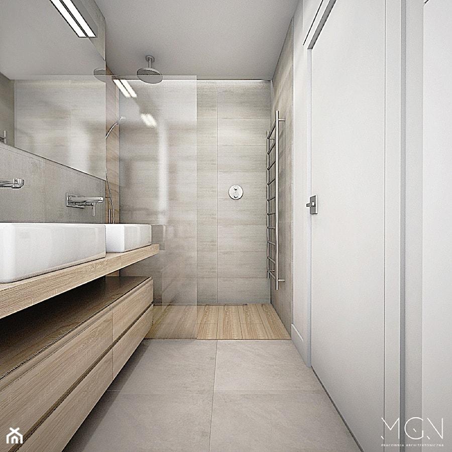 Balkon W Domu Jednorodzinnym: Mała łazienka W Domu Jednorodzinnym Bez