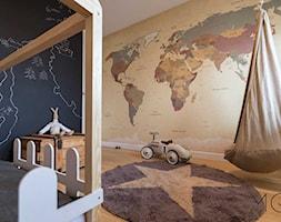 Mieszkanie Czerniaków - Średni brązowy czarny pokój dziecka dla chłopca dla dziewczynki dla malucha dla nastolatka, styl nowoczesny - zdjęcie od Pracownia Architektoniczna Małgorzaty Górskiej-Niwińskiej