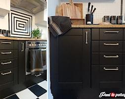 Modna metamorfoza kuchni w weekend - Mała zamknięta szara kuchnia jednorzędowa - zdjęcie od Pani to potrafi - Homebook