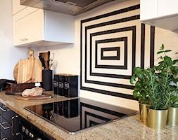 Modna metamorfoza kuchni w weekend - Mała zamknięta biała kuchnia w kształcie litery l - zdjęcie od Pani to potrafi - Homebook