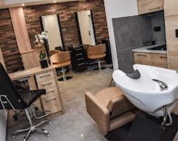 Elegancki salon fryzjerski - Wnętrza publiczne, styl nowoczesny - zdjęcie od Koncept - beautiful inside