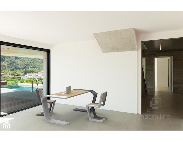 Modern Line GRAVITY z betonu architektonicznego i drewna bukowego