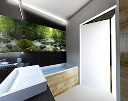 Mała szara łazienka w bloku w domu jednorodzinnym bez okna - zdjęcie od Archibranża