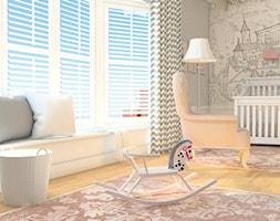 Matemblewo - Średni szary pokój dziecka dla chłopca dla dziewczynki dla niemowlaka, styl klasyczny - zdjęcie od MOCCADesign