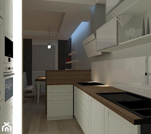 Wąska i mała kuchnia  zdjęcie od MagiaMetamorfozy -> Mala Kuchnia Styl Skandynawski