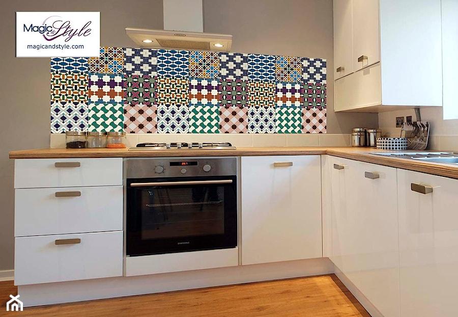 Panel szklany do kuchni 60x60cm MOZAIKA MAROKAŃSKA   -> Kuchnia Plytki Mozaika
