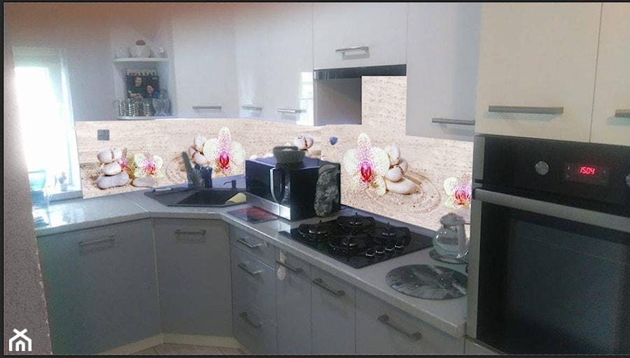Panel Szklany Do Kuchni Storczyki Biało Różowe Ii Zdjęcie