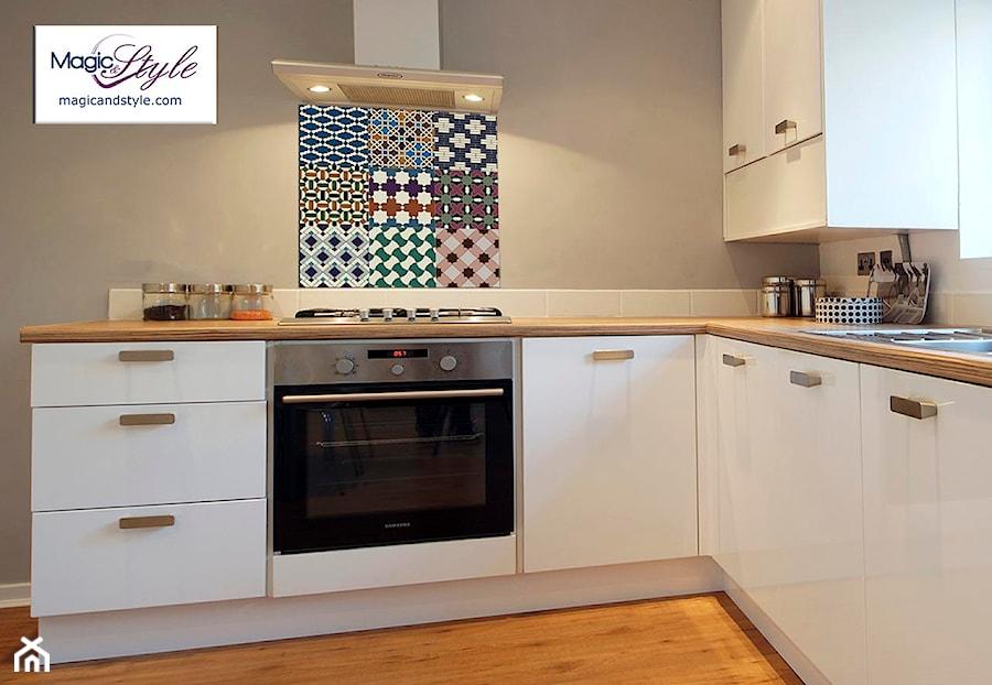 Panel Szklany Do Kuchni 60x60cm Mozaika Marokańska Zdjęcie