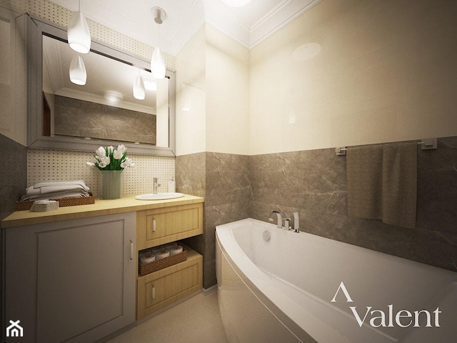 Łazienka z wanną narożną - zdjęcie od Aranżacja & Wnętrza & Projekty & Wykończenia domów i mieszkań