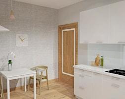 KUCHNIA DLA PARY - Mała otwarta jadalnia w kuchni, styl minimalistyczny - zdjęcie od Że Ho Ho projektowanie wnętrz