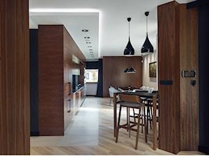 Dom IV - Duża otwarta kuchnia jednorzędowa w aneksie, styl nowoczesny - zdjęcie od SIKORA WNĘTRZA