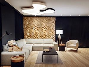 Dom IV - Mały czarny salon, styl nowoczesny - zdjęcie od SIKORA WNĘTRZA