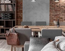 Apartament w Gdańsku - Średnia otwarta jadalnia w salonie, styl nowoczesny - zdjęcie od SIKORA