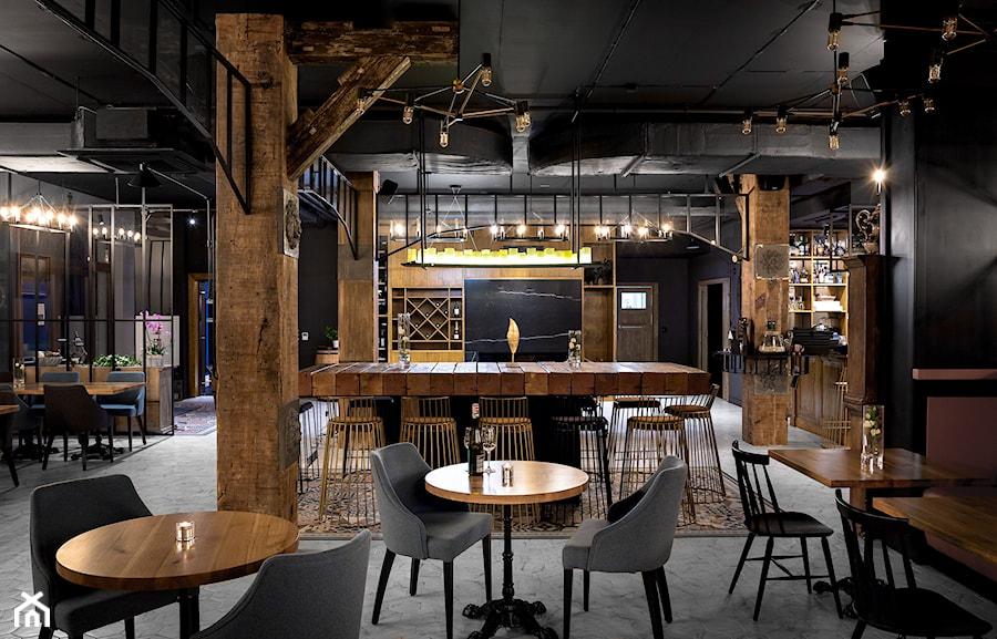 RESTAURACJA JASTNY DWÓR - Wnętrza publiczne, styl industrialny - zdjęcie od SIKORA WNĘTRZA