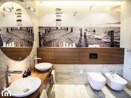 Aranżacje wnętrz - Łazienka: apartament nadmorski - emDesign home & decoration. Przeglądaj, dodawaj i zapisuj najlepsze zdjęcia, pomysły i inspiracje designerskie. W bazie mamy już prawie milion fotografii!