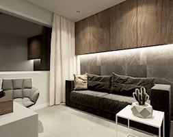 DOM WROCŁAW OPORÓW - Średnie szare biuro domowe kącik do pracy w pokoju, styl nowoczesny - zdjęcie od INSPIRED DESIGN