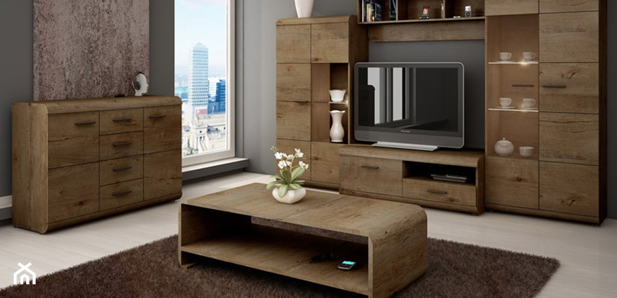 Wooden units living room