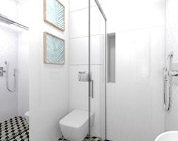 Dom w stylu klasycznym - Mała biała łazienka w bloku w domu jednorodzinnym bez okna, styl klasyczny - zdjęcie od Atelier58