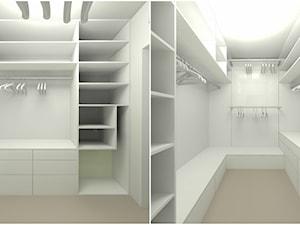 Dom w Sieradzu-02 - Duża garderoba, styl minimalistyczny - zdjęcie od Atelier58